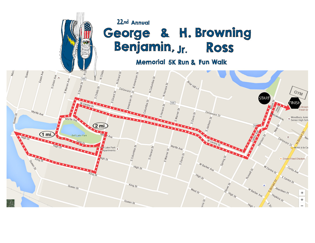 BR5K Course Map 2016