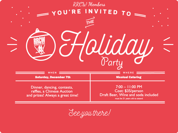 You're Invited to the RRCW Holiday Party